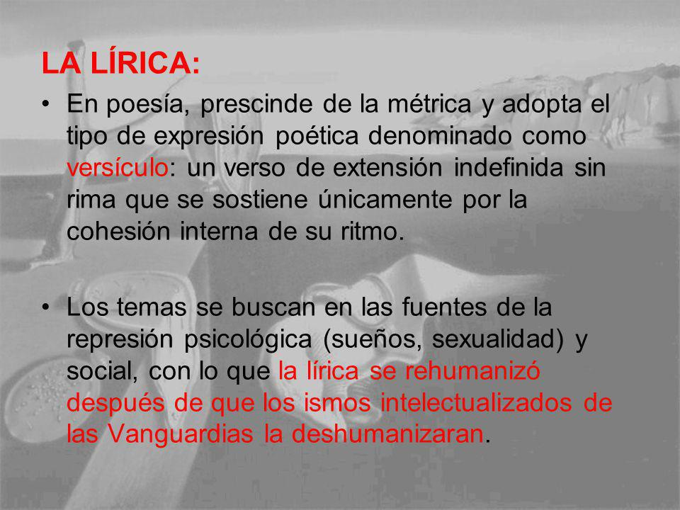 LA LÍRICA:
