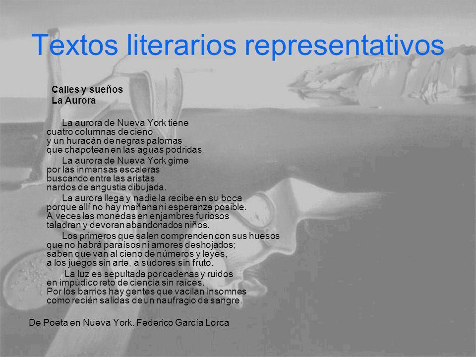 Textos literarios representativos