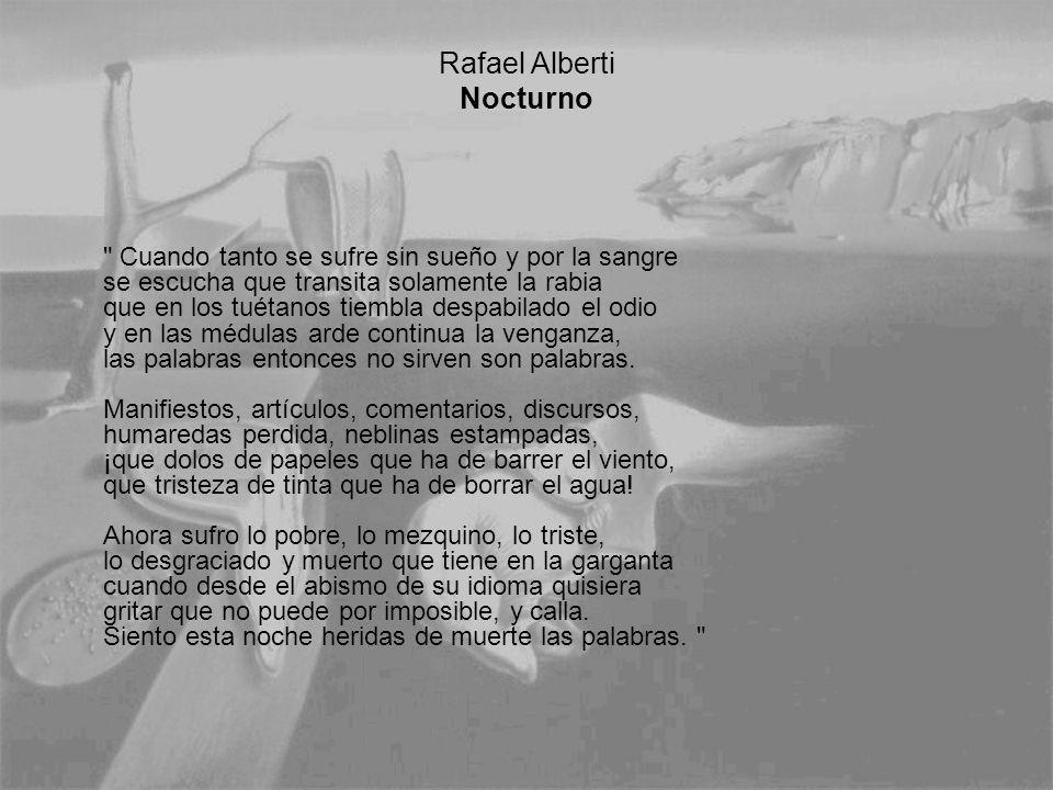 Rafael Alberti Nocturno