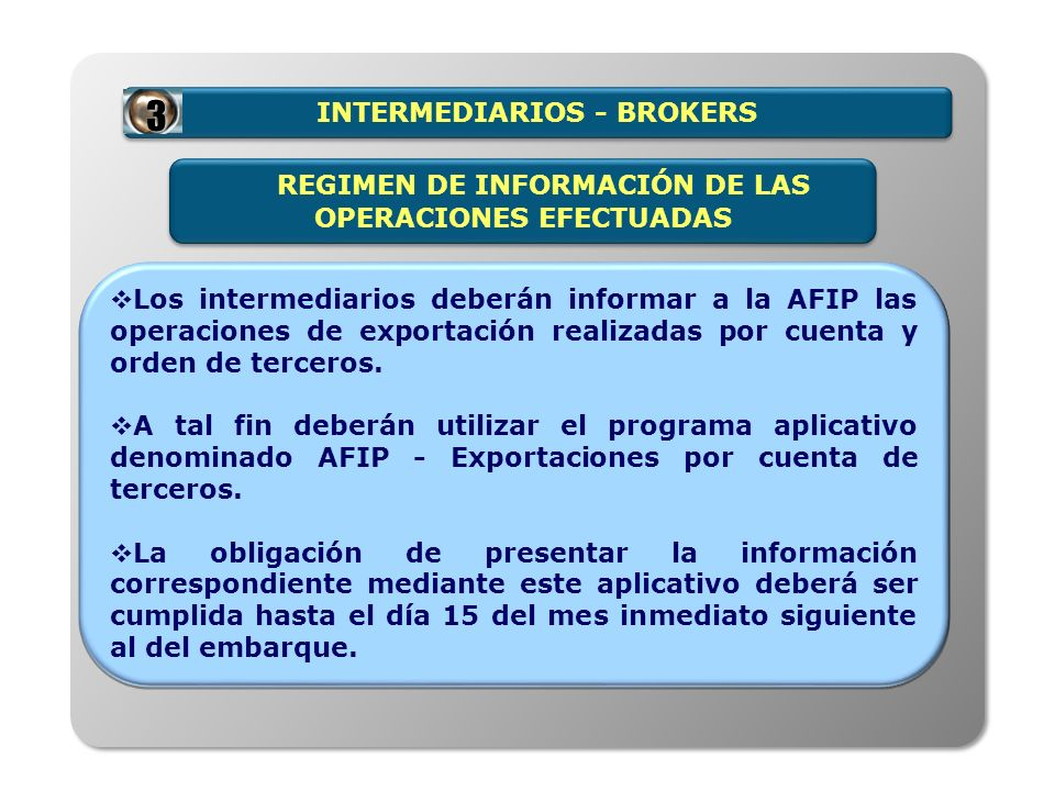 INTERMEDIARIOS - BROKERS