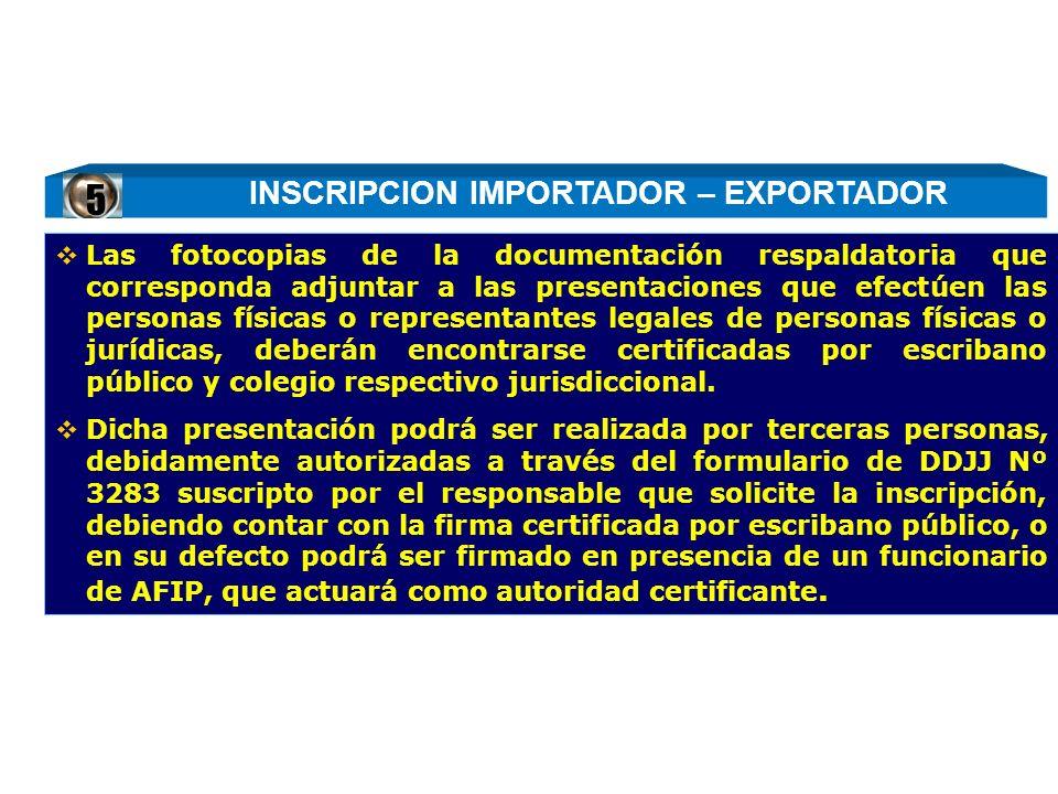 INSCRIPCION IMPORTADOR – EXPORTADOR