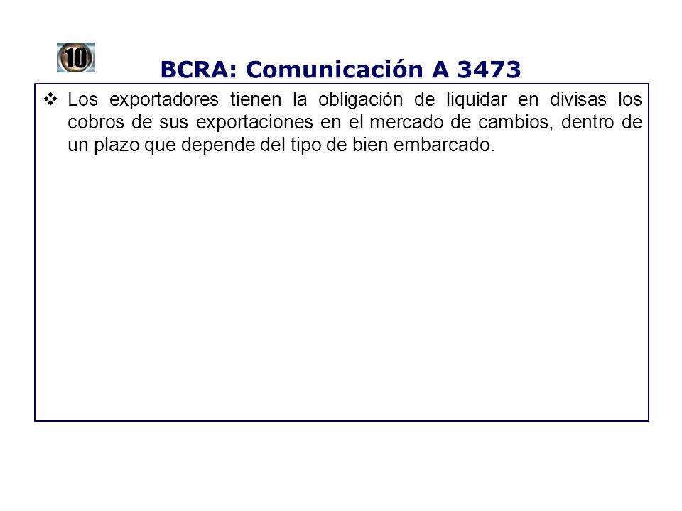 BCRA: Comunicación A 3473 10.