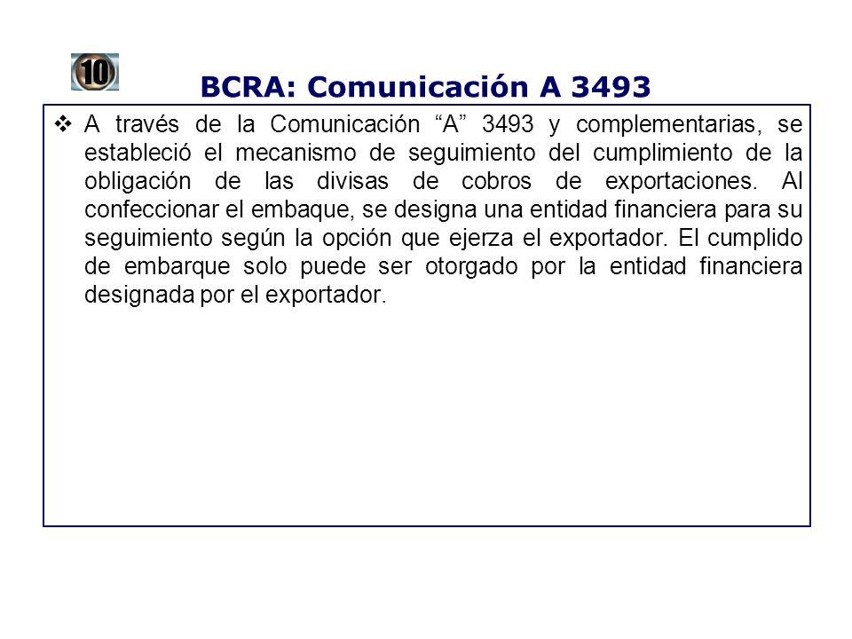 BCRA: Comunicación A 3493 10.