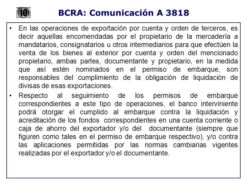 BCRA: Comunicación A 3818 10.