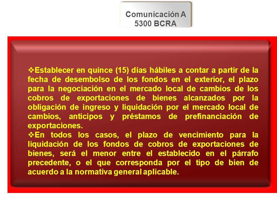 Comunicación A 5300 BCRA