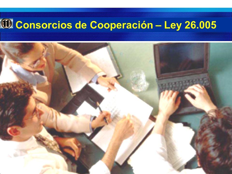 Consorcios de Cooperación – Ley 26.005