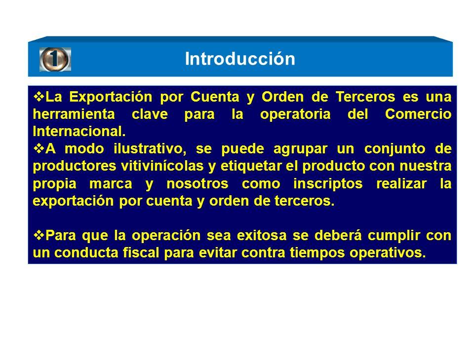 Introducción La Exportación por Cuenta y Orden de Terceros es una herramienta clave para la operatoria del Comercio Internacional.