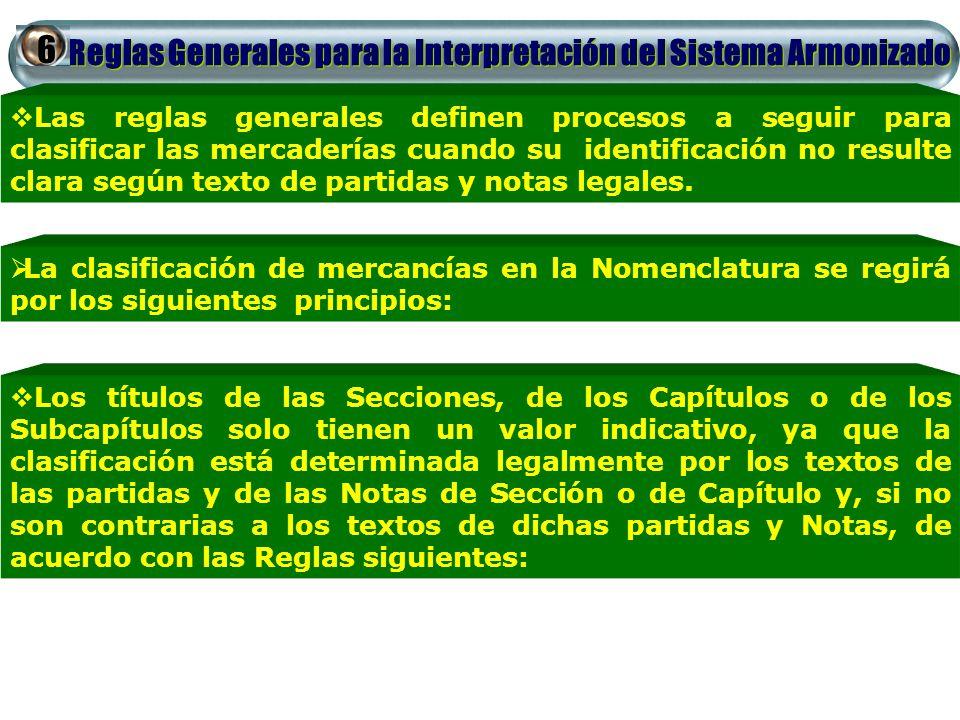 6 Reglas Generales para la Interpretación del Sistema Armonizado