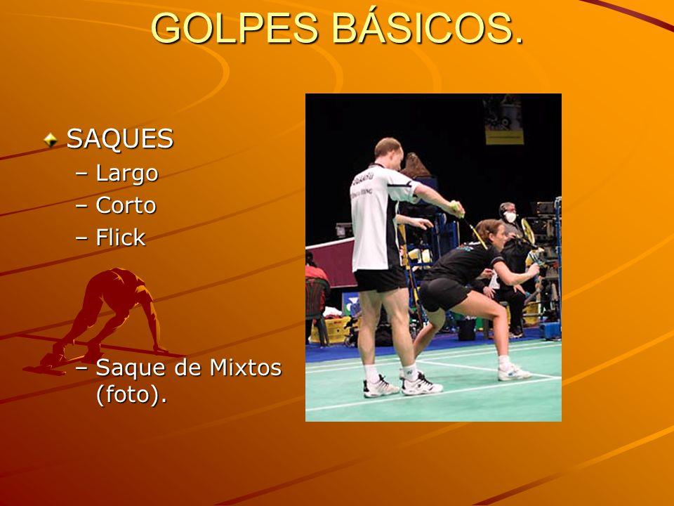GOLPES BÁSICOS. SAQUES Largo Corto Flick Saque de Mixtos (foto).