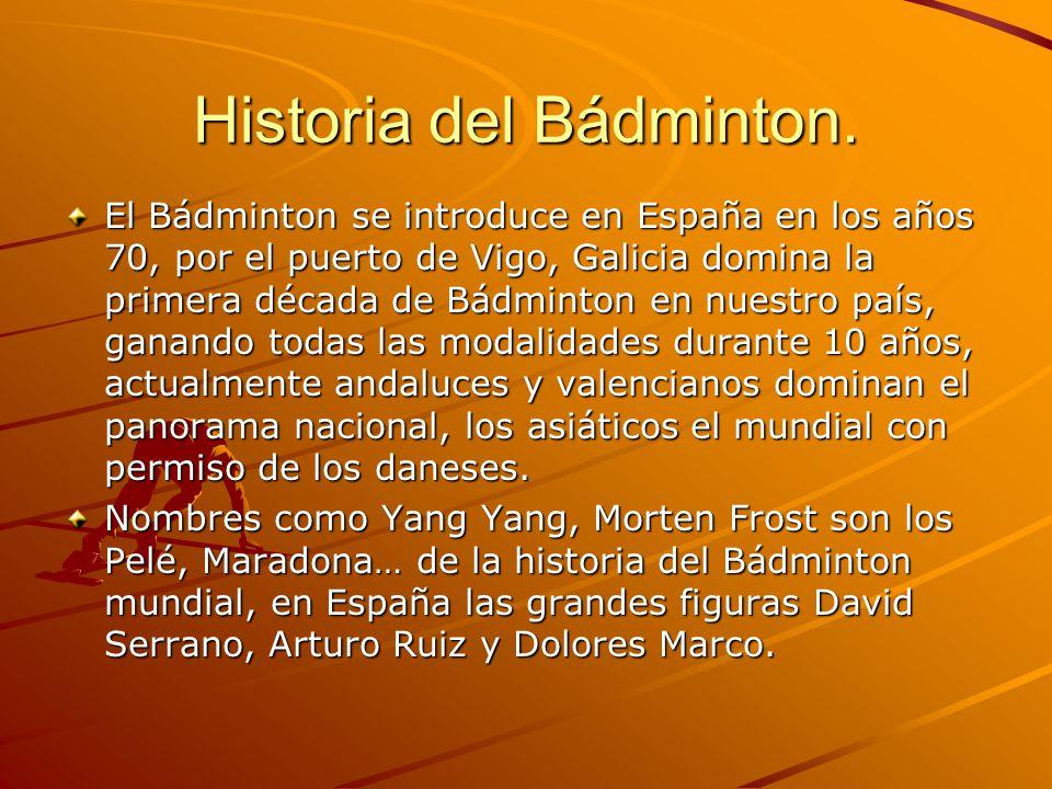 Historia del Bádminton.