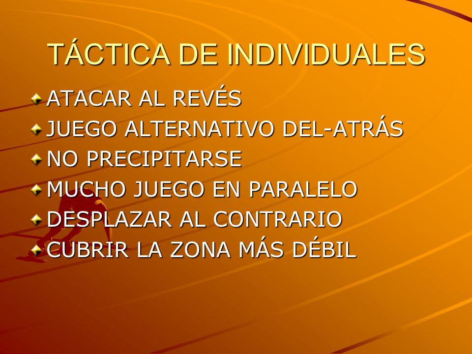 TÁCTICA DE INDIVIDUALES