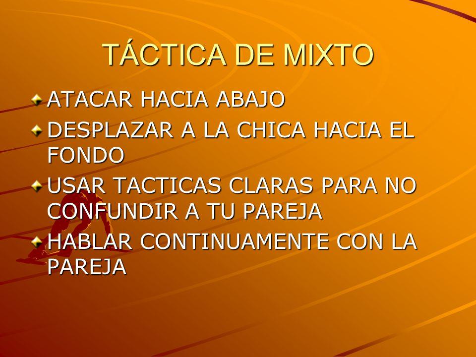 TÁCTICA DE MIXTO ATACAR HACIA ABAJO