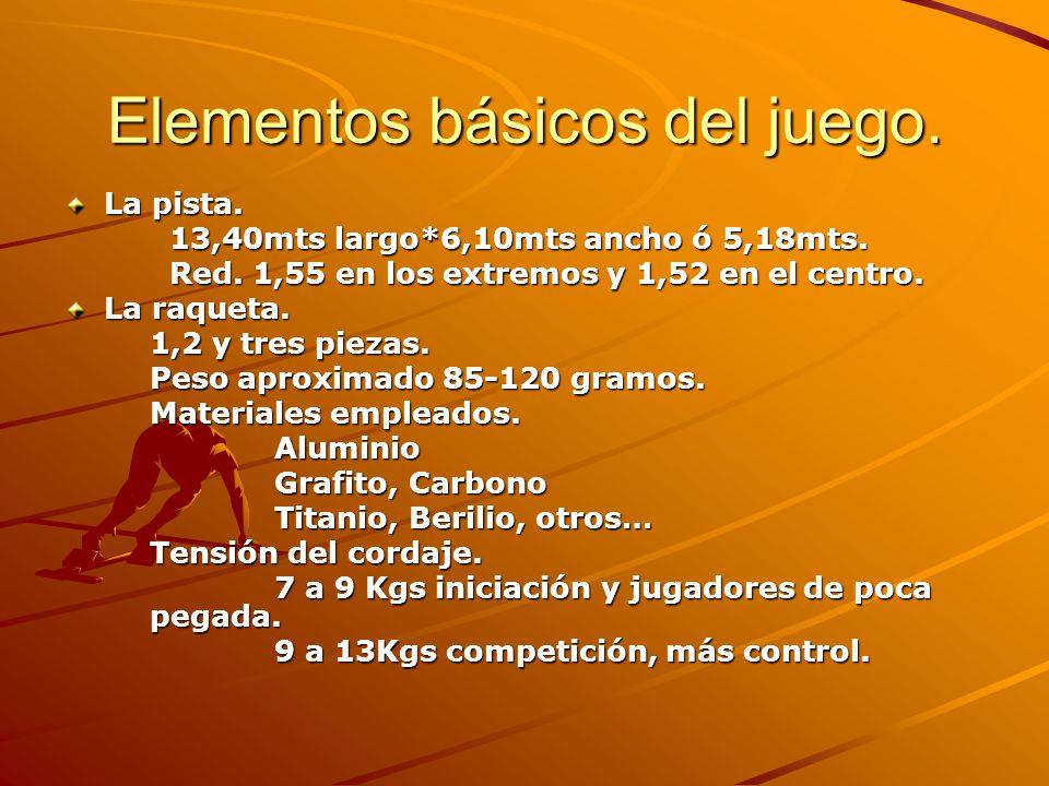 Elementos básicos del juego.