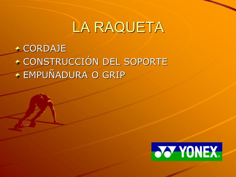 LA RAQUETA CORDAJE CONSTRUCCIÓN DEL SOPORTE EMPUÑADURA O GRIP