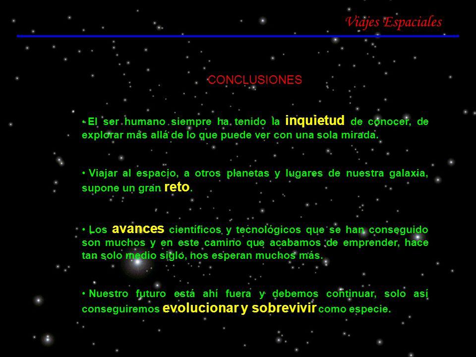 Viajes Espaciales CONCLUSIONES