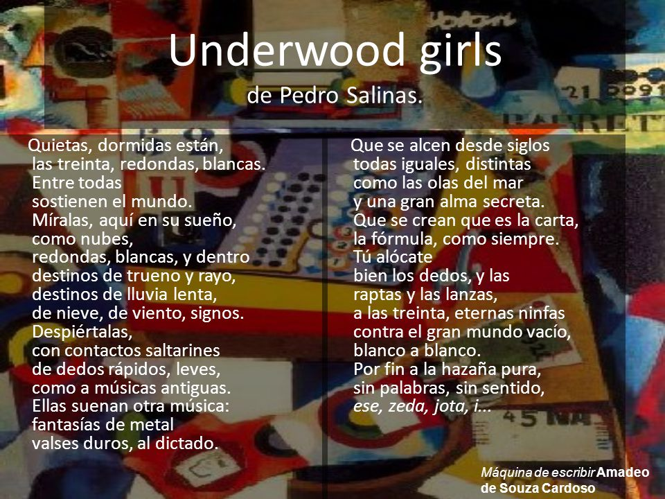 Underwood girls de Pedro Salinas.