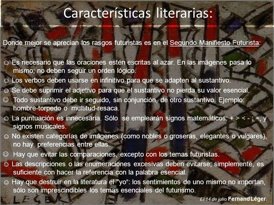 Características literarias: