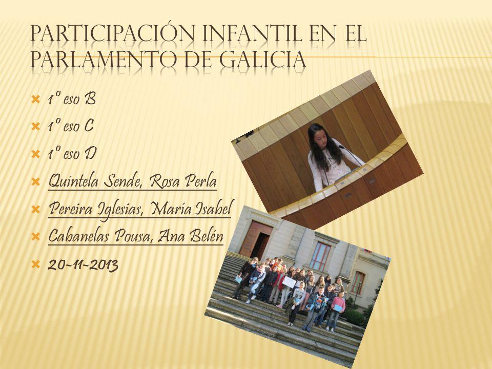 Participación Infantil en el Parlamento de Galicia