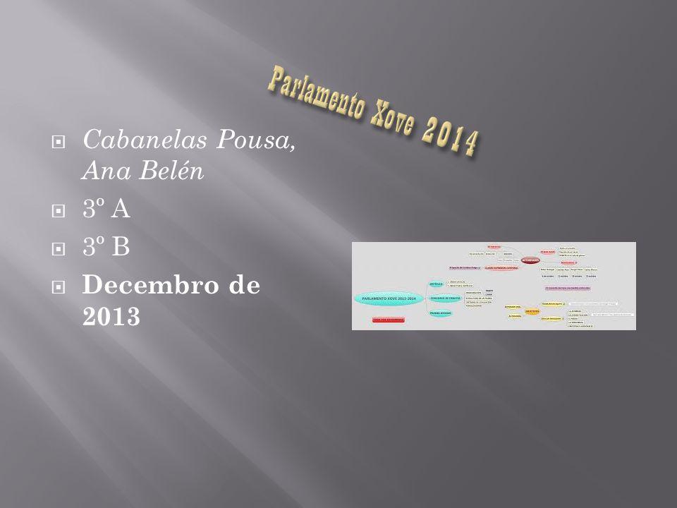 Parlamento Xove 2014 Cabanelas Pousa, Ana Belén 3º A 3º B