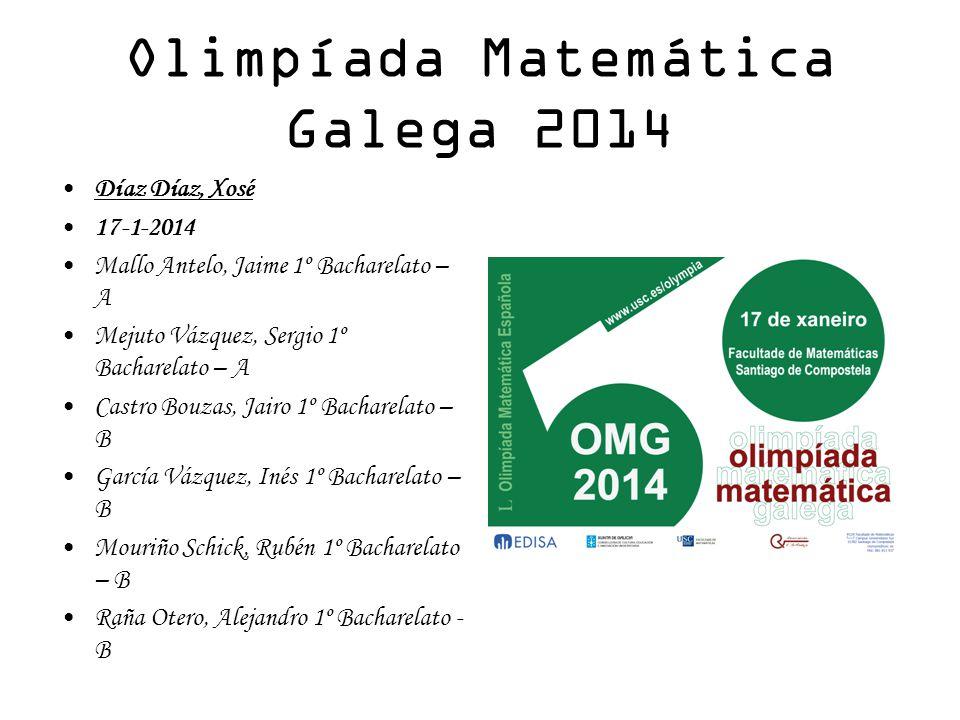 Olimpíada Matemática Galega 2014