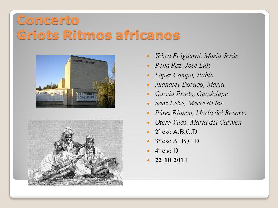 Concerto Griots Ritmos africanos