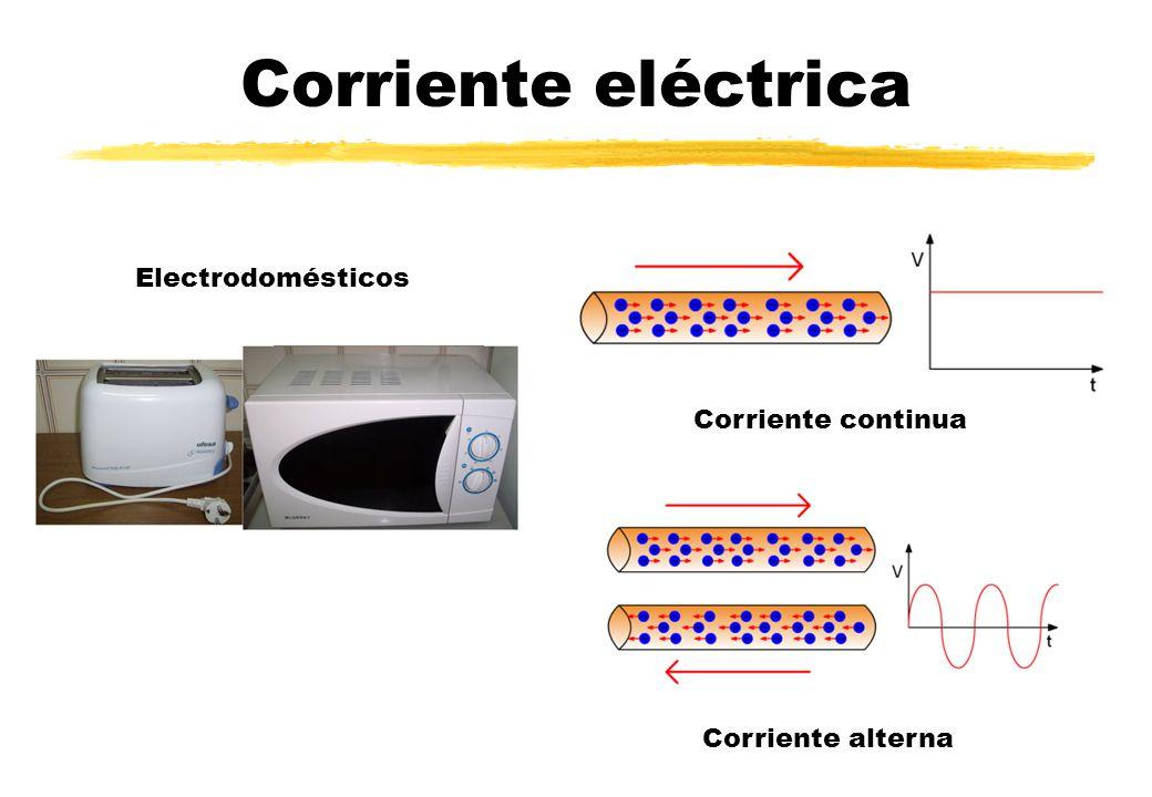 Corriente eléctrica Electrodomésticos Corriente continua