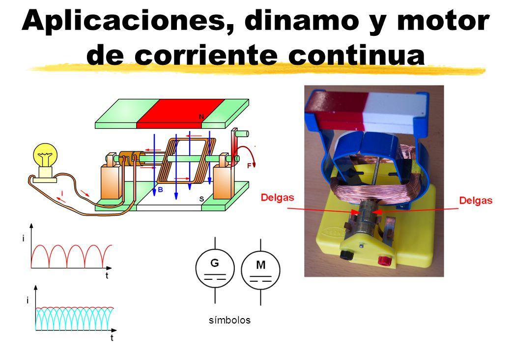 Aplicaciones, dinamo y motor de corriente continua