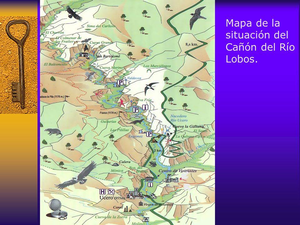 Mapa de la situación del Cañón del Río Lobos.