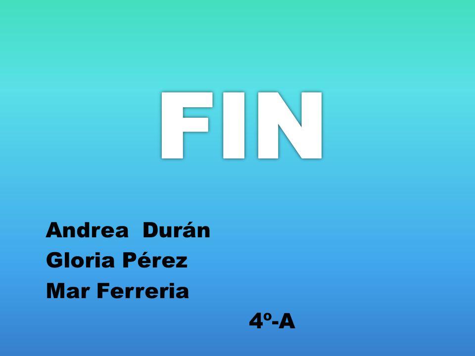 FIN Andrea Durán Gloria Pérez Mar Ferreria 4º-A