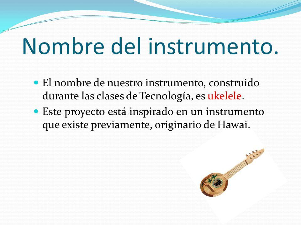 Nombre del instrumento.