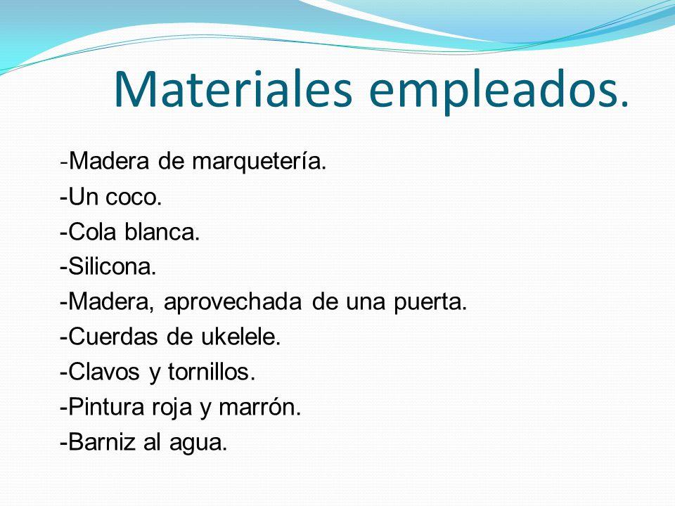 Materiales empleados.