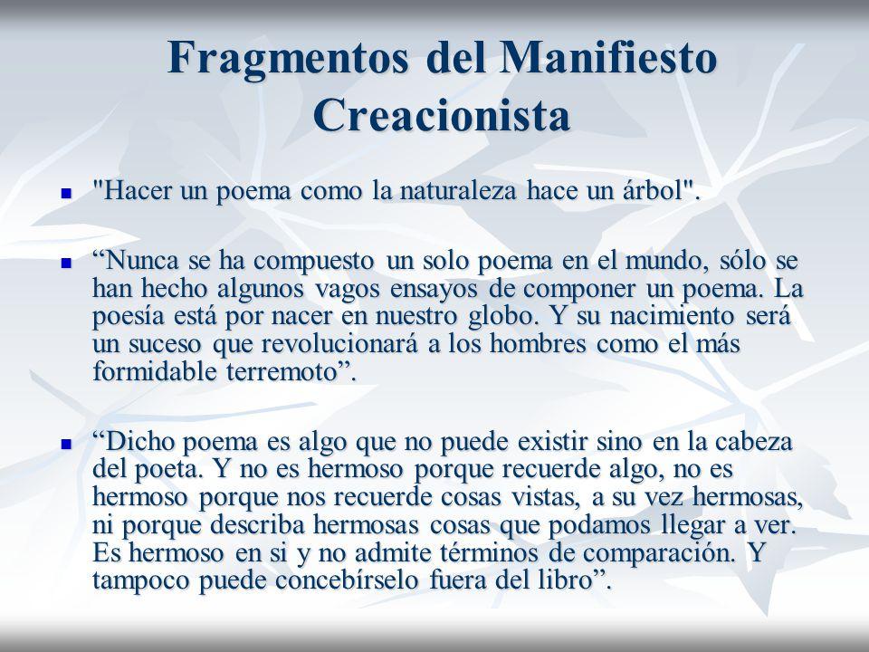 Fragmentos del Manifiesto Creacionista