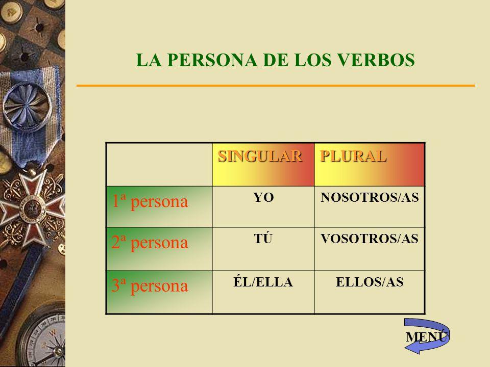 LA PERSONA DE LOS VERBOS