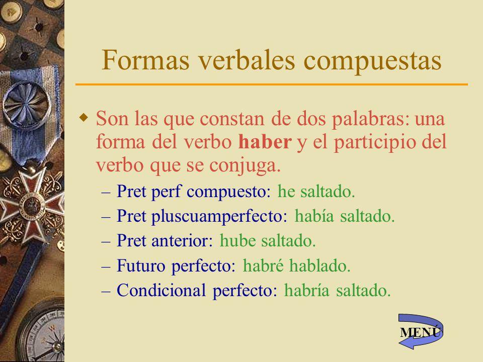 Formas verbales compuestas