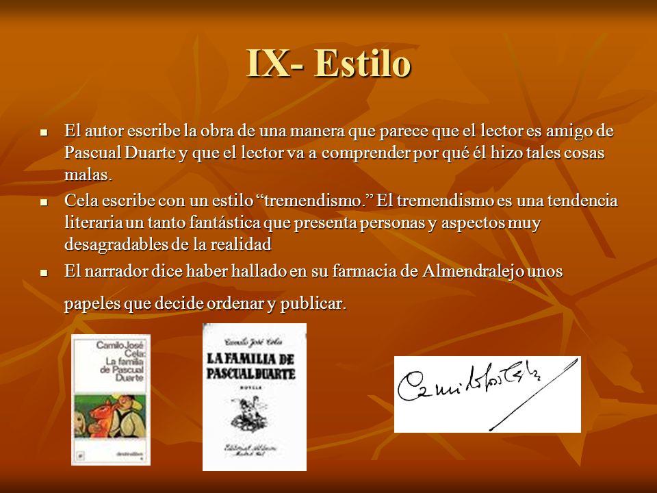 IX- Estilo