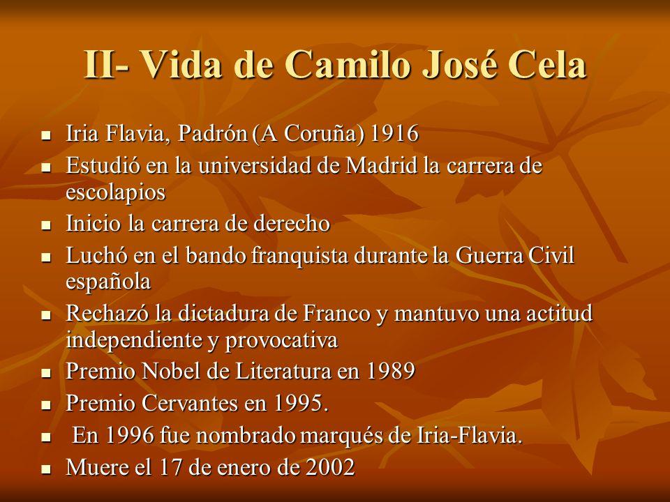 II- Vida de Camilo José Cela