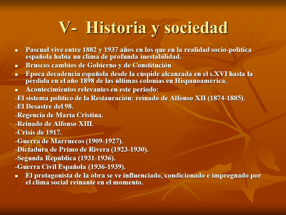 V- Historia y sociedad
