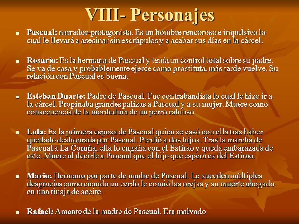 VIII- Personajes