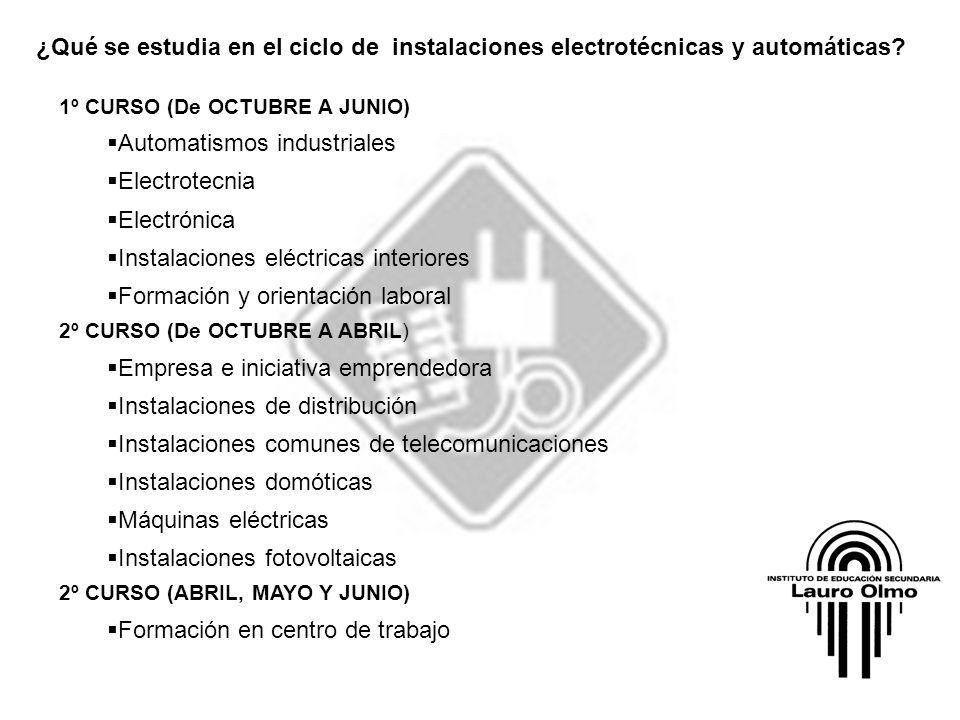 Automatismos industriales Electrotecnia Electrónica