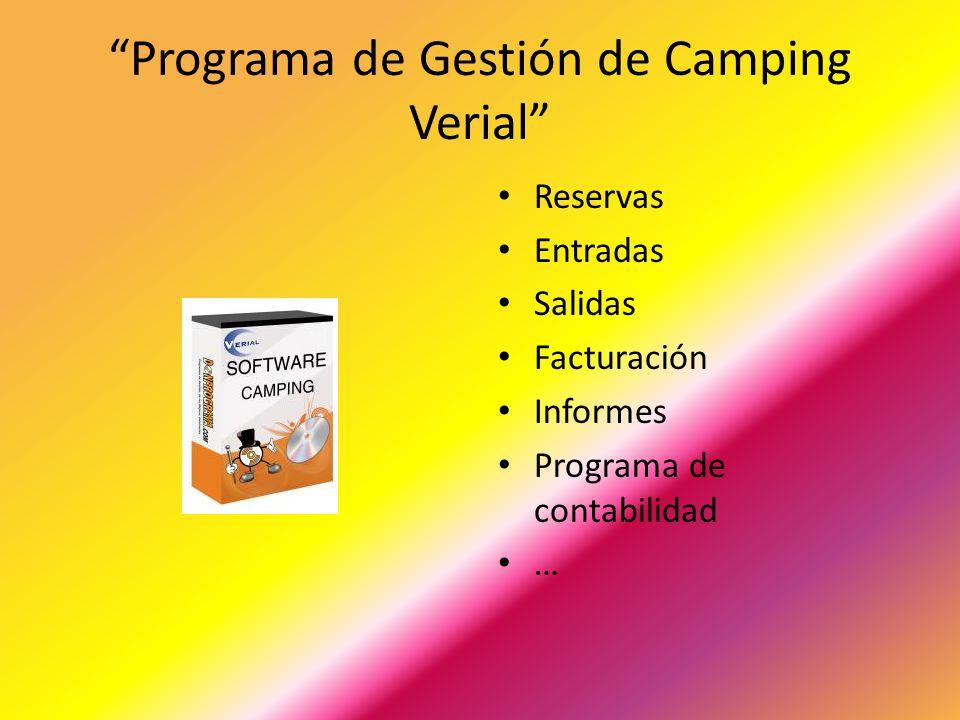 Programa de Gestión de Camping Verial