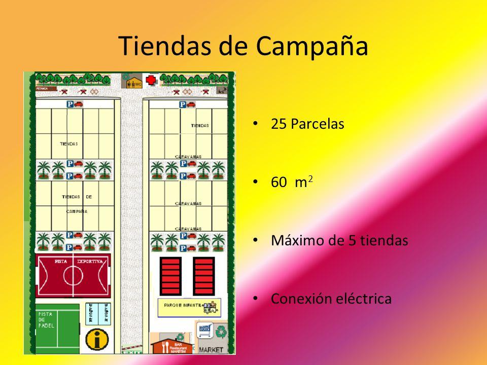 Tiendas de Campaña 25 Parcelas 60 m2 Máximo de 5 tiendas