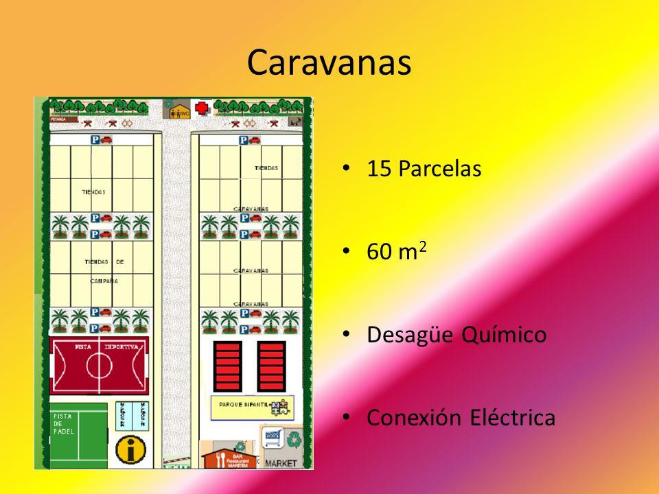 Caravanas 15 Parcelas 60 m2 Desagüe Químico Conexión Eléctrica