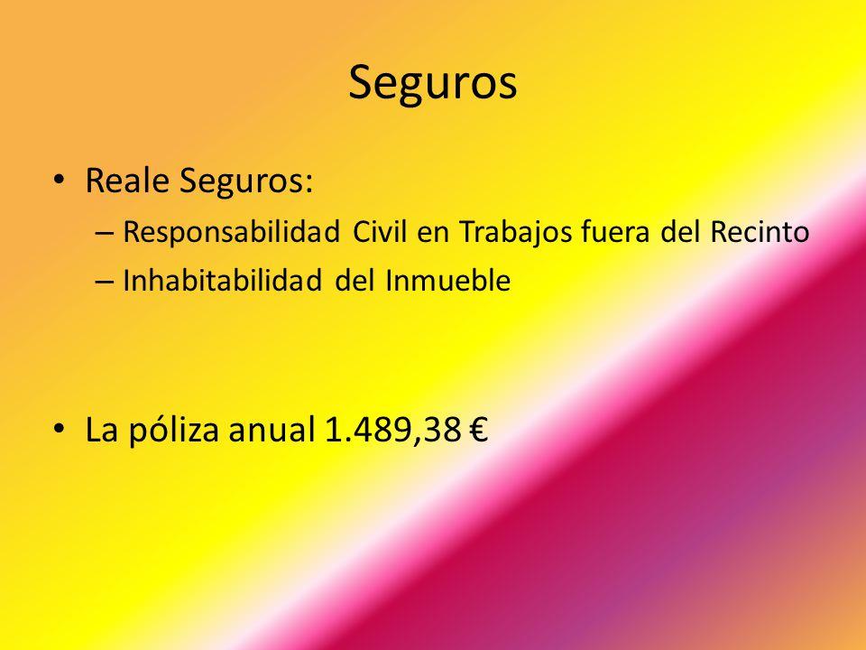 Seguros Reale Seguros: La póliza anual 1.489,38 €