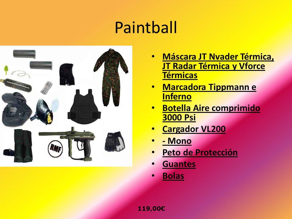 Paintball Máscara JT Nvader Térmica, JT Radar Térmica y Vforce Térmicas. Marcadora Tippmann e Inferno.