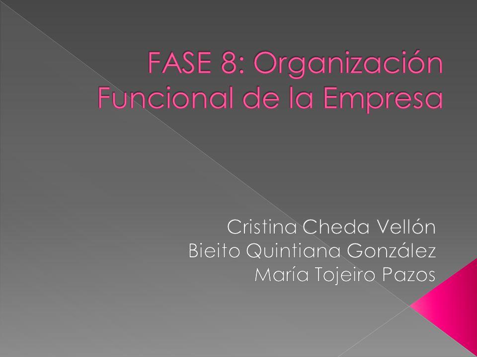 FASE 8: Organización Funcional de la Empresa