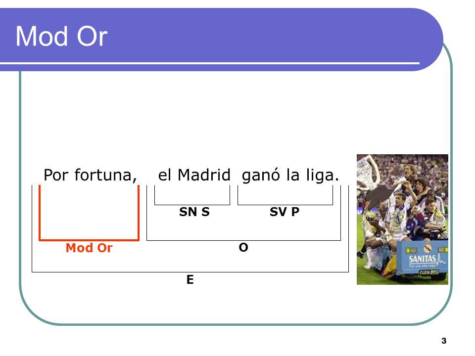 Mod Or Por fortuna, el Madrid ganó la liga. Mod Or SN S SV P O E