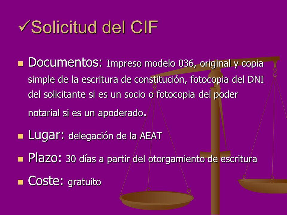 Solicitud del CIF