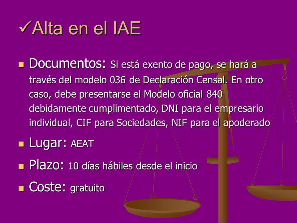Alta en el IAE