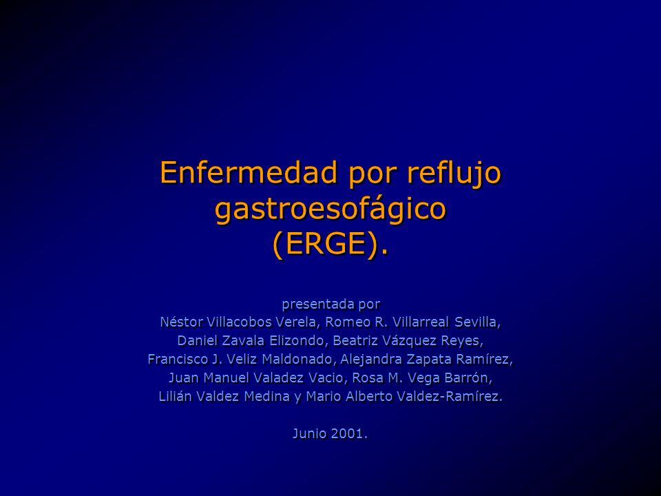 Enfermedad por reflujo gastroesofágico (ERGE).