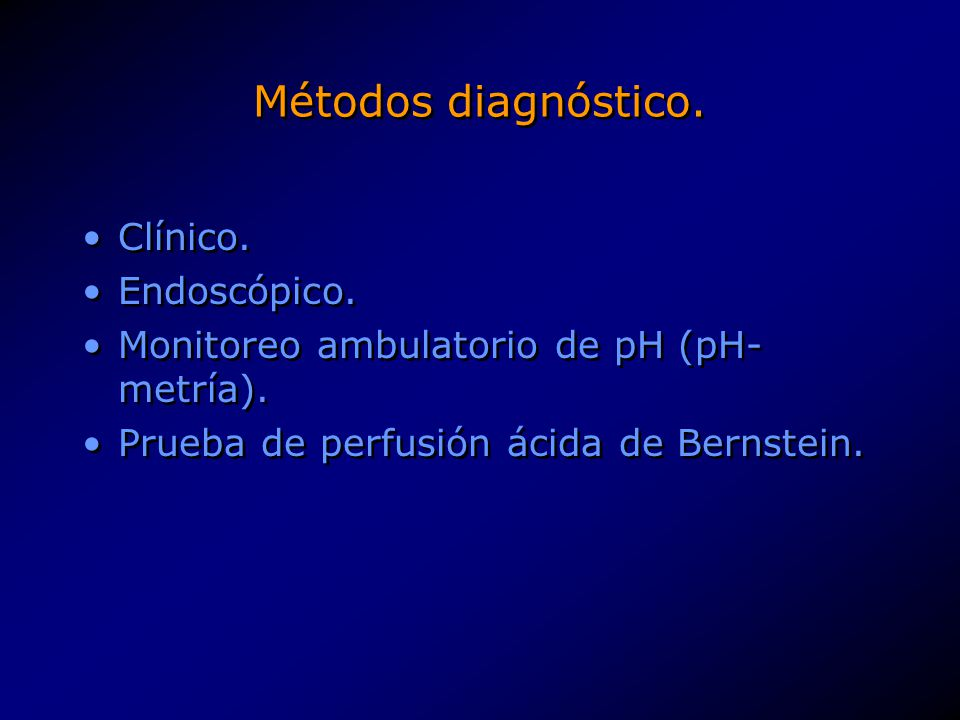 Métodos diagnóstico. Clínico. Endoscópico.